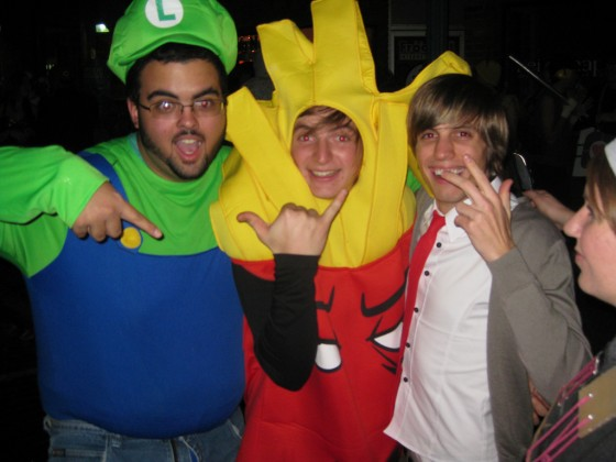 Frylock in Athens Ohio on Halloween