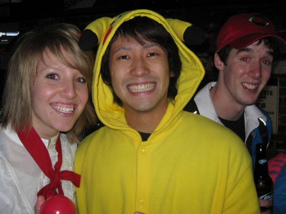 Pikachu at the Cat's Eye Bar in Athens Ohio