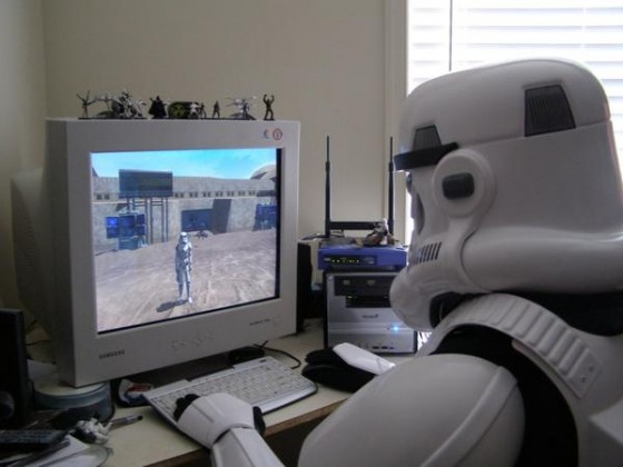 A Sad Stormtrooper Plays SWG for the Last Time