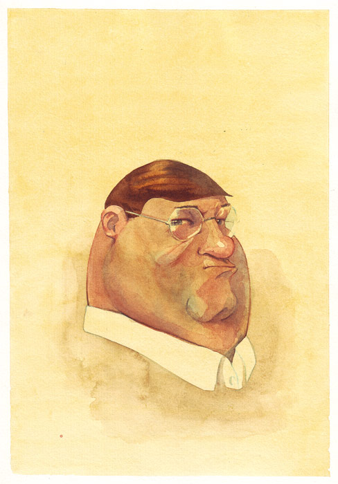 Peter Griffin in watercolor