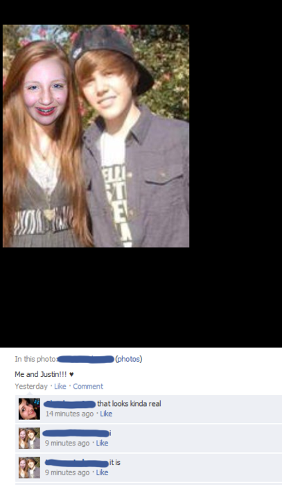 The day she met Justin Bieber (Forever Alone)