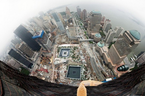 View from the top of the new 1 World Trade Center