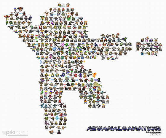 375 Gaming Characters as Mega Man Sprites