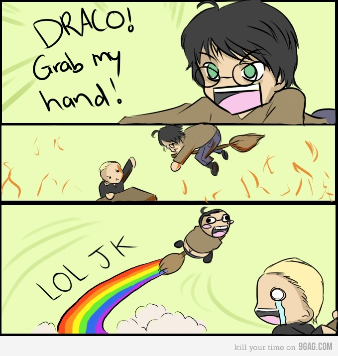 Draco grab my hand!