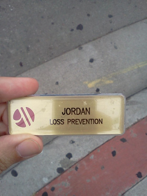 Found this on the street. Jordan, you may want to step up your game at work.