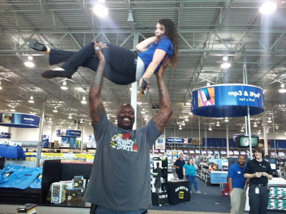 Got high with Shaq today.