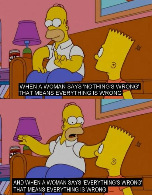 Homers got woman figured out