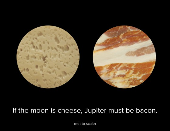 If the Moon is made of cheese...