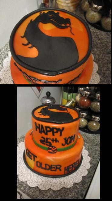 My Girlfriend Made a Mortal Kombat Birthday Cake
