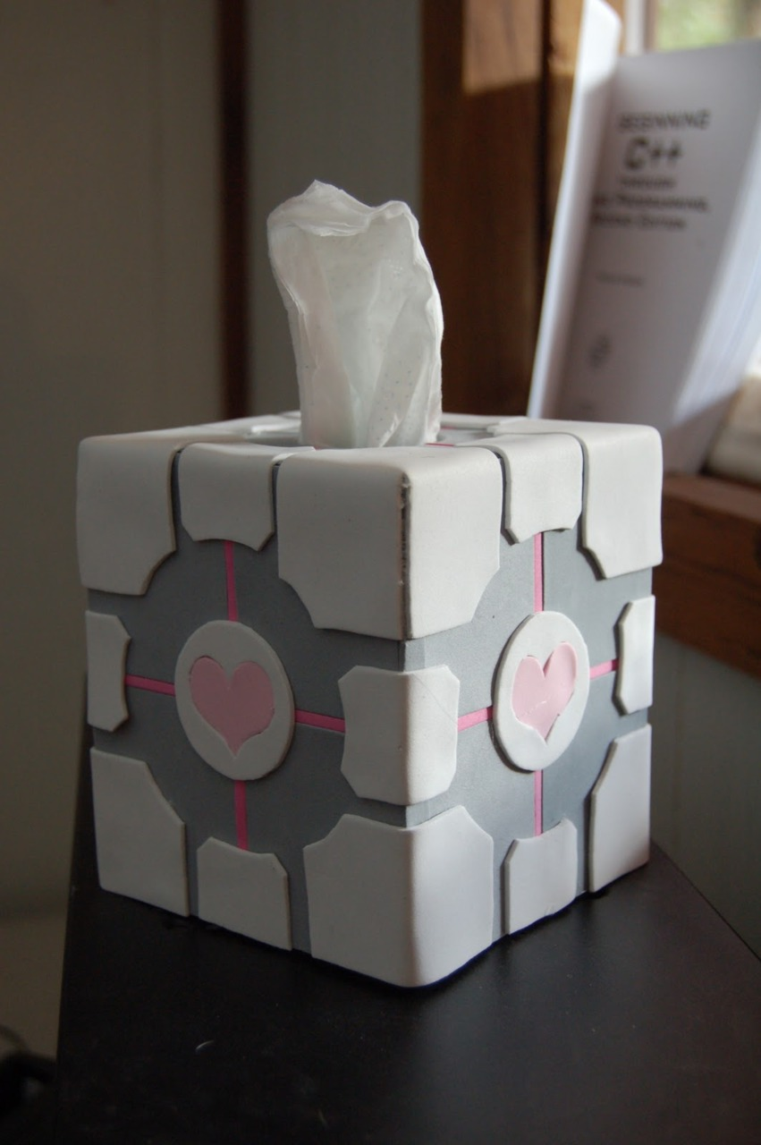 The Companion Cube is there for your tears