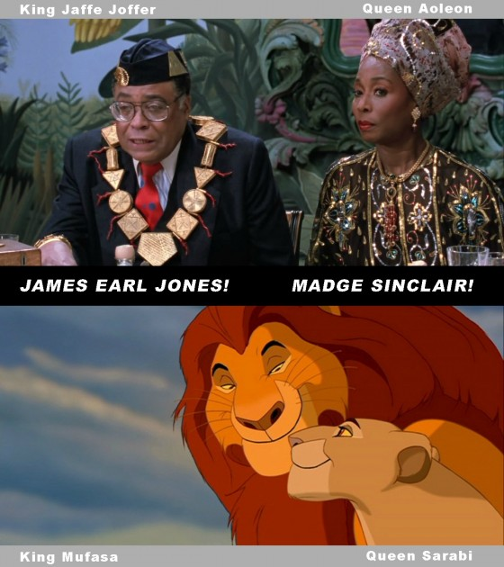Today I learned that the king and queen in the Lion King were voiced by the king and queen in Coming to America.