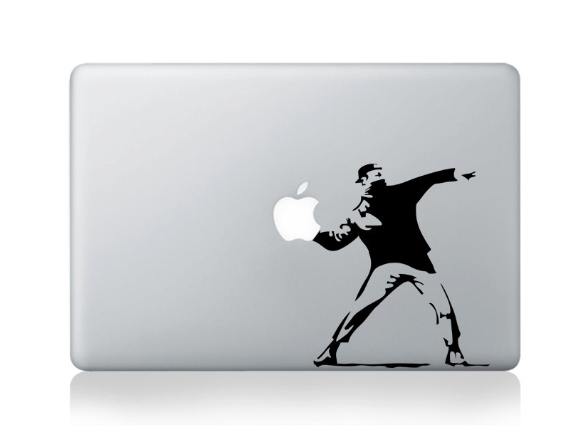 Banksy Molotov Man - Macbook Decal