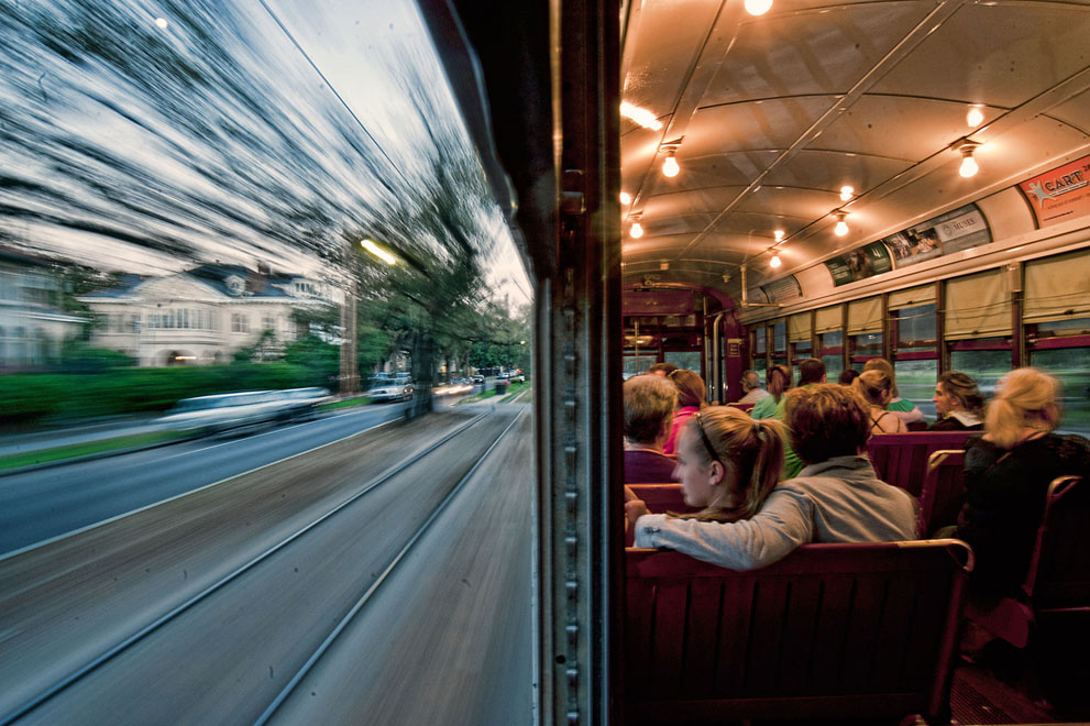 Beautiful image of a streetcar in New Orleans