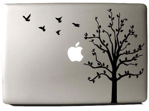 Cherry Tree & Birds -macbook pro decal