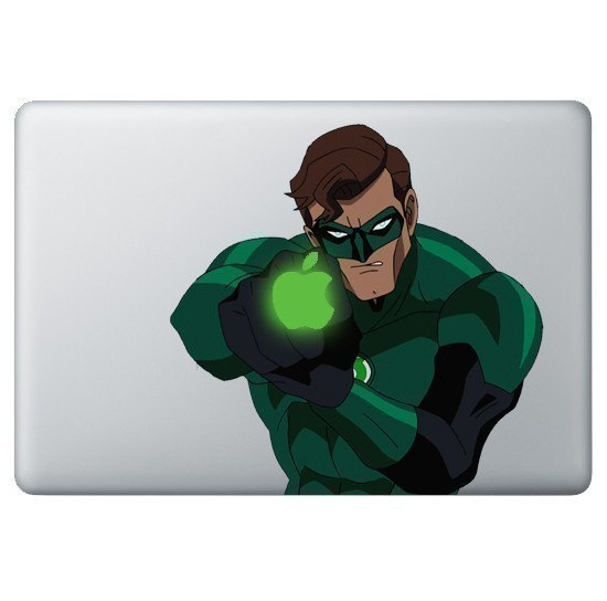 Green Lantern -macbook pro decal