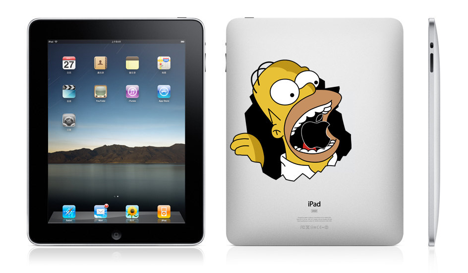 Homer -macbook pro decal