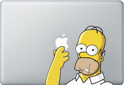 Homer-macbook pro decal