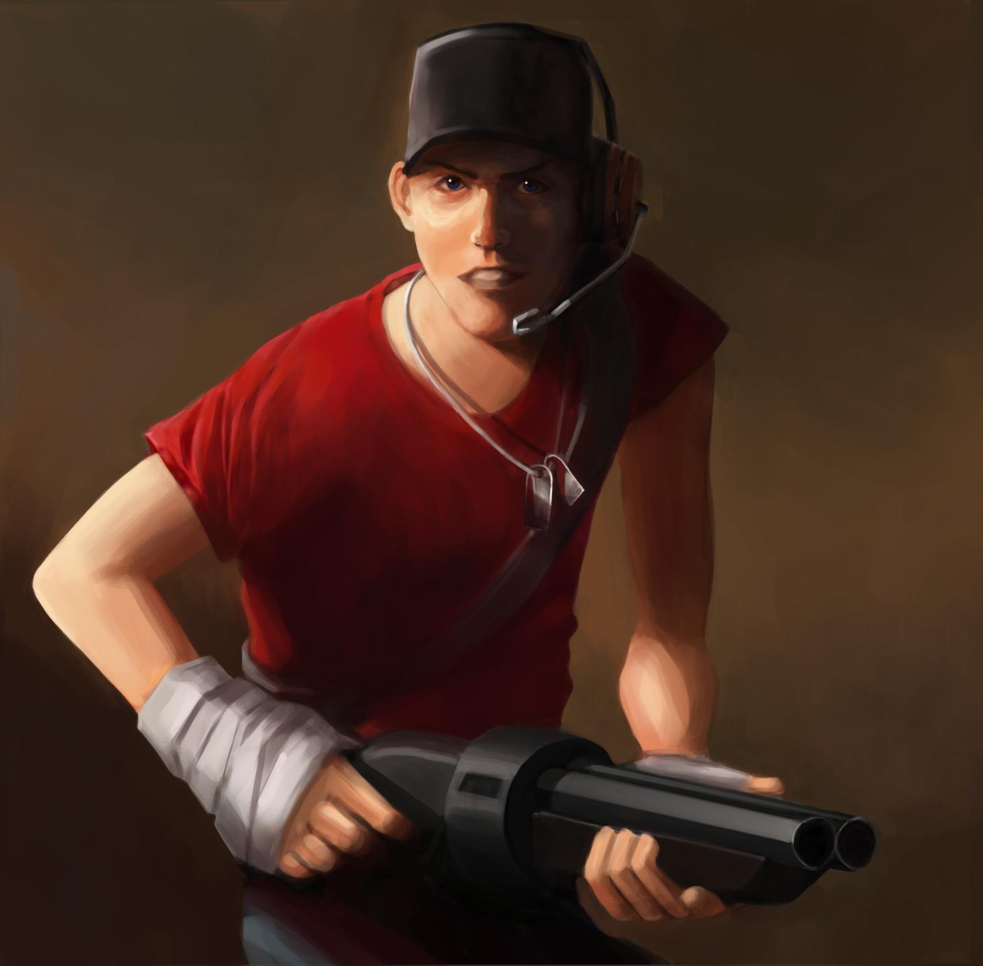 Just finished my painting of Scout.
