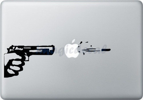 The Gun - Macbook Decal