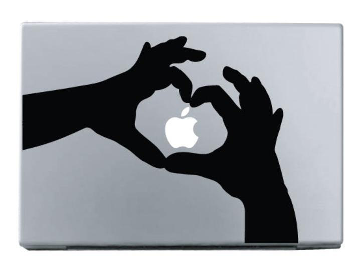 The Heart Shaped Hands -macbook pro decal
