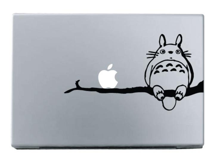The Totoro on Branch - Macbook Decal