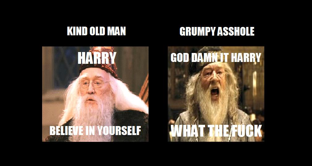 The difference between the two Dumbledores