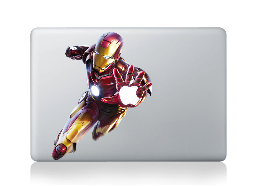 ironman -macbook pro decal