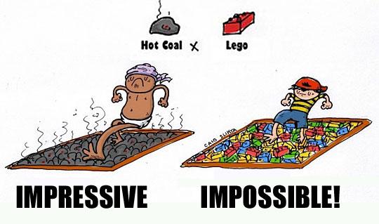 lego vs hot coals