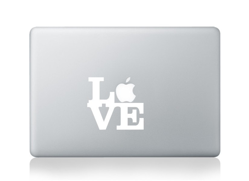 love----Macbook Decal