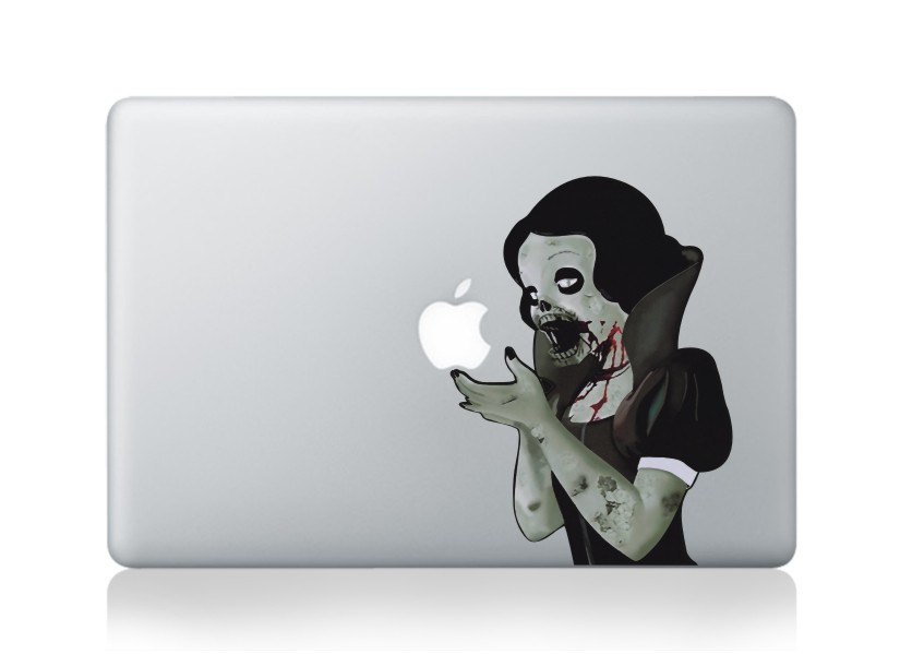 snow white -macbook pro decals