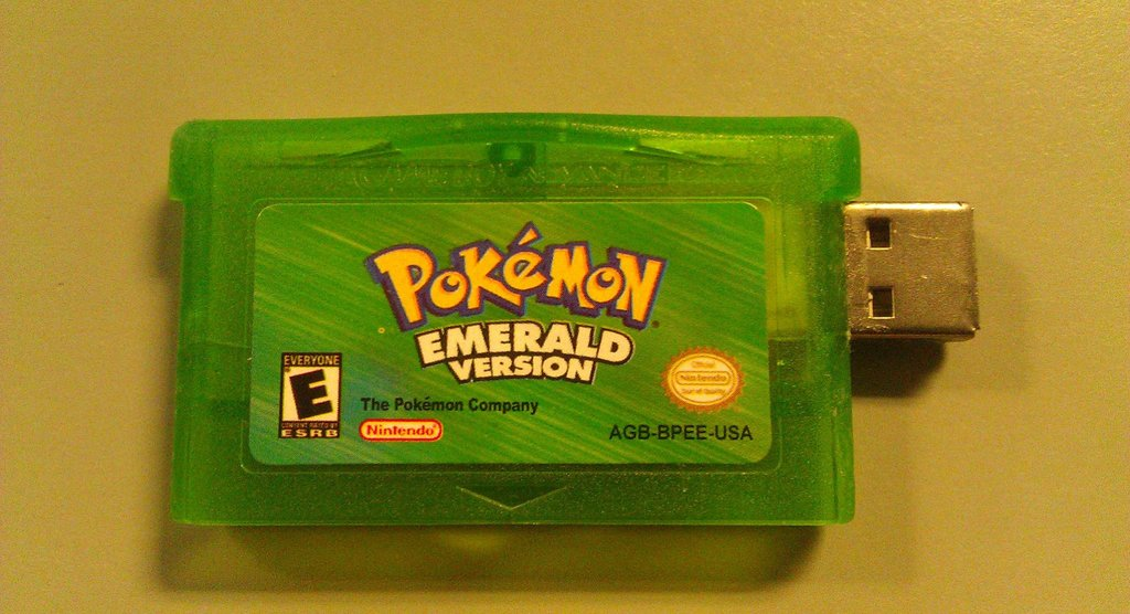 My Pokemon Emerald cart died. So I turned it into a thumb drive.