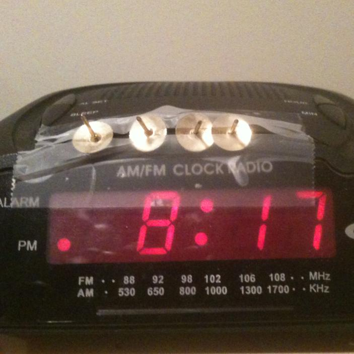 My roommate's anti-snooze apparatus; patent pending