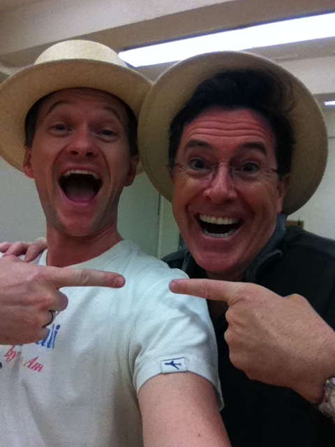 Neil Patrick Harris and Stephen Colbert