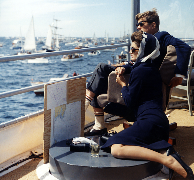President Kennedy and wife. I will never be this cool