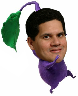 Reggie is now a purple Pikmin