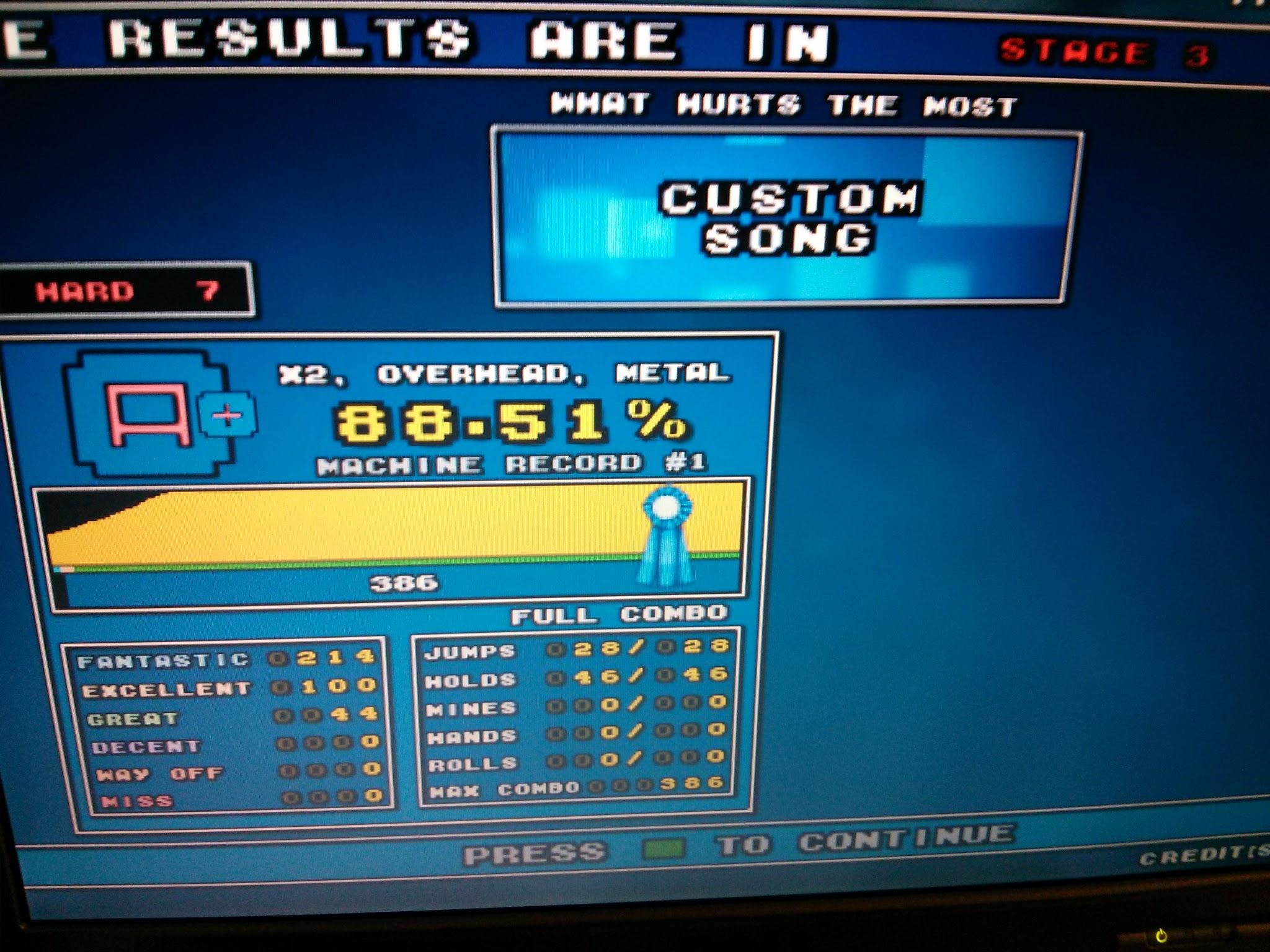 DDR Scores 12-12-12 2