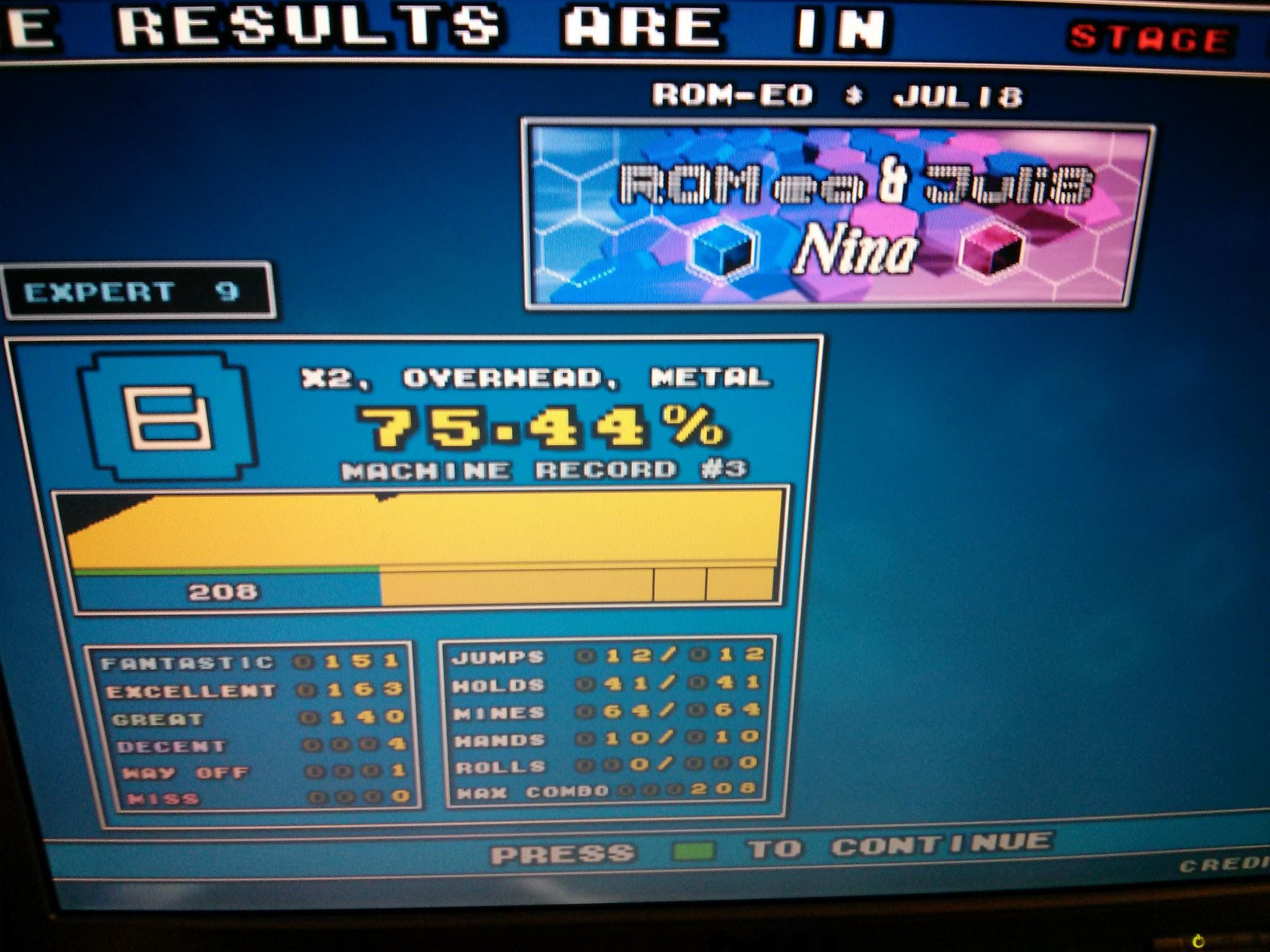DDR Scores 12-12-12 7