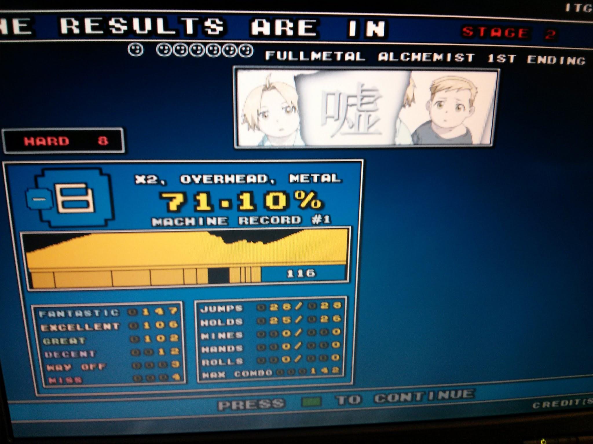 DDR Scores 12-12-12 8