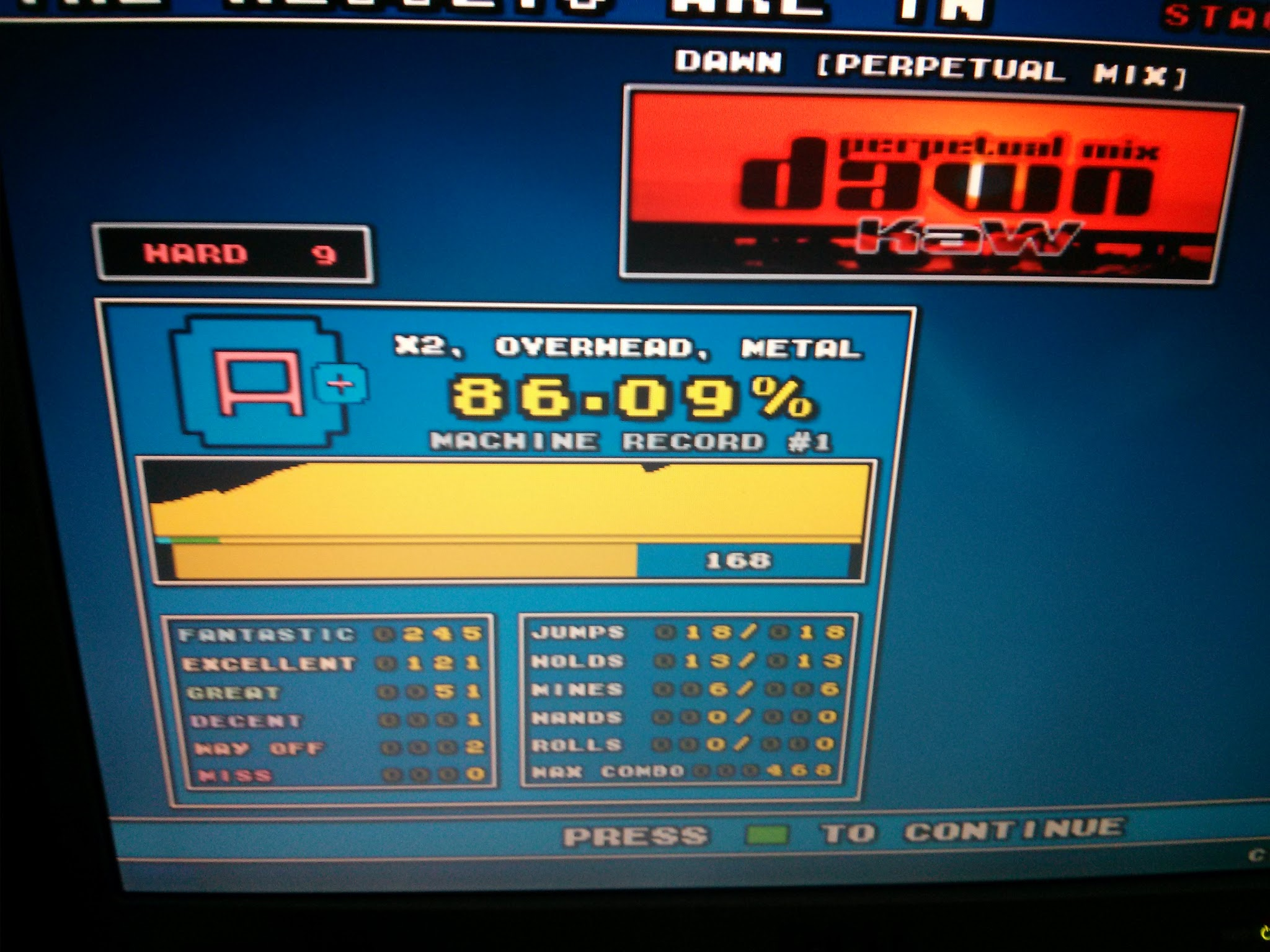 Dec 10th 2012 DDRITG Score 9