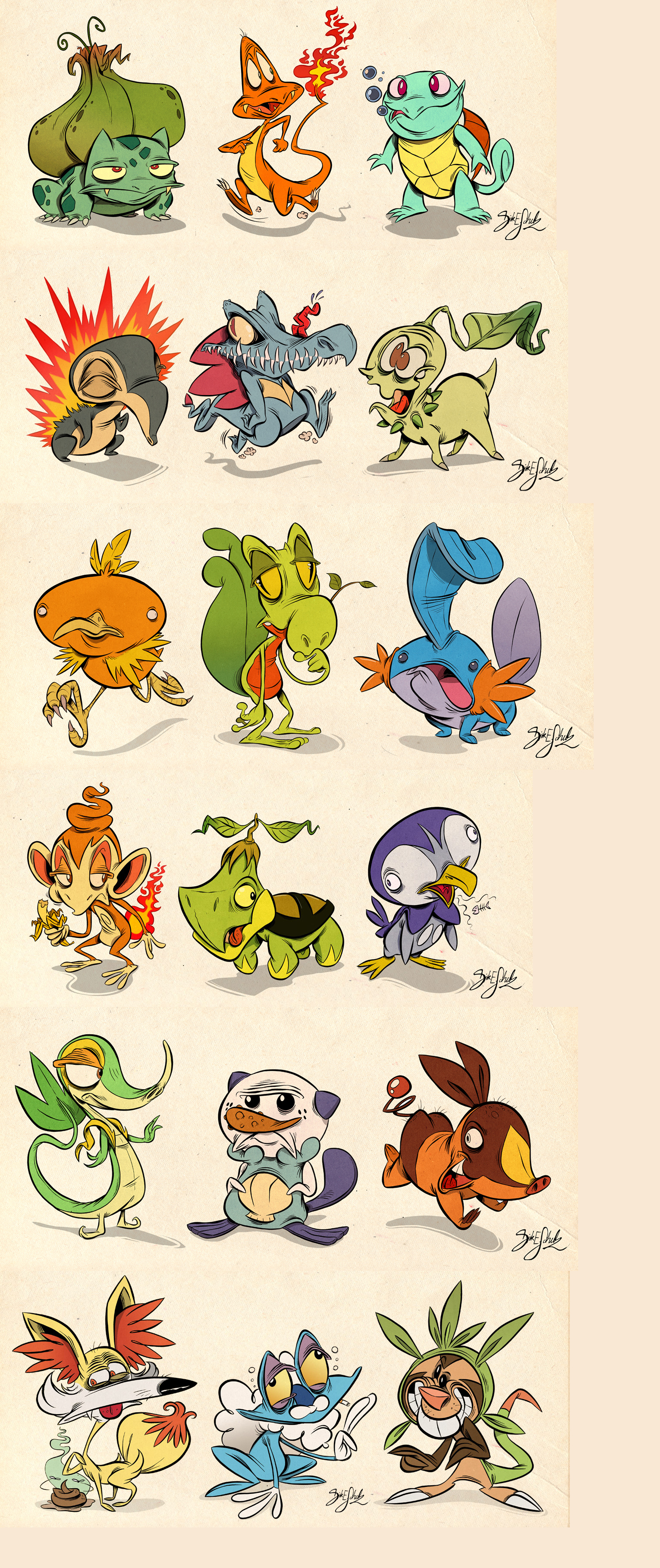 Pokemon imagined by Themrock