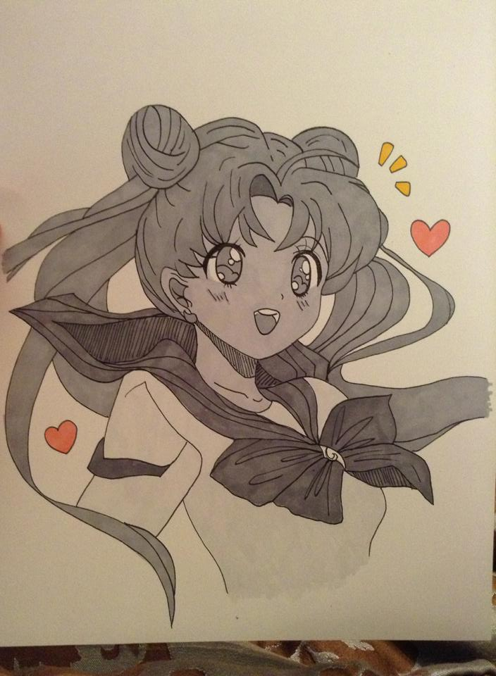 Sailor Moon drawing by reddit