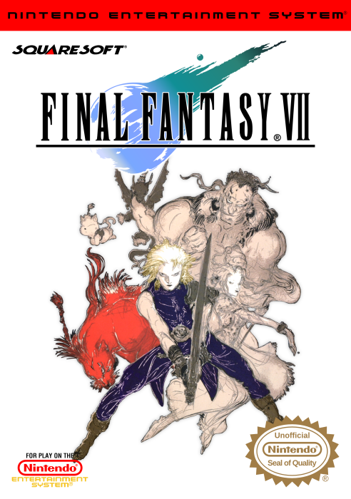 Final Fantasy VII NES Front Cover