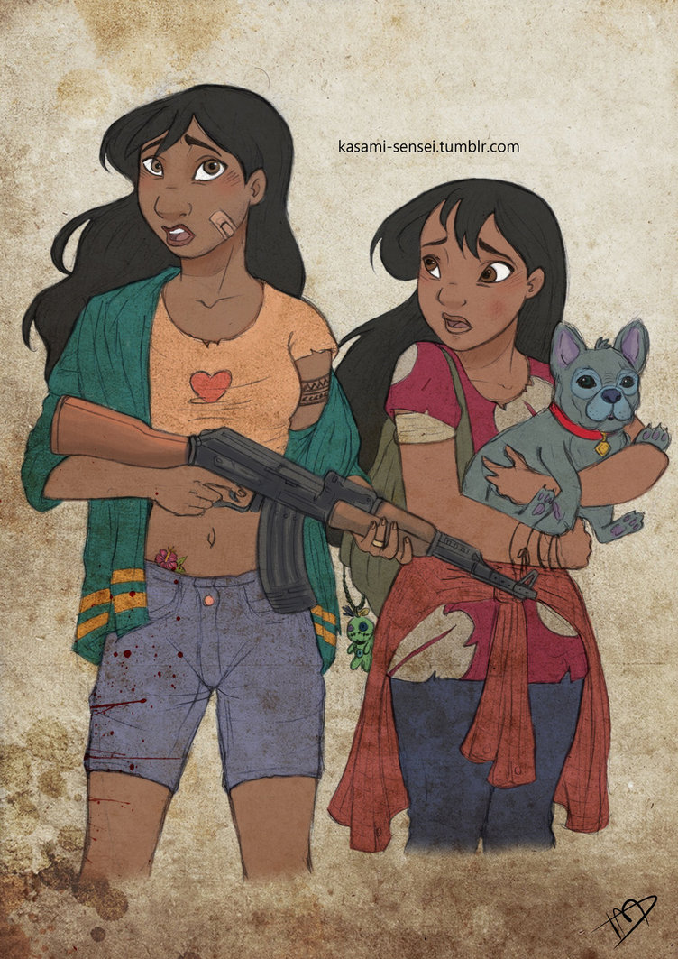 The Walking Disney Nani, Lilo and Stitch